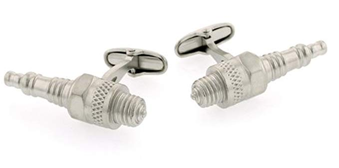JJ Weston Sparkplug Shaped Cufflinks. Made in the USA.