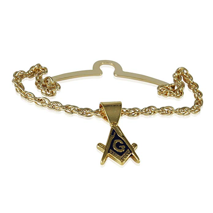 Cuff-Daddy Freemason Masonic Tie Chain with Box for Masons with Presentation Box