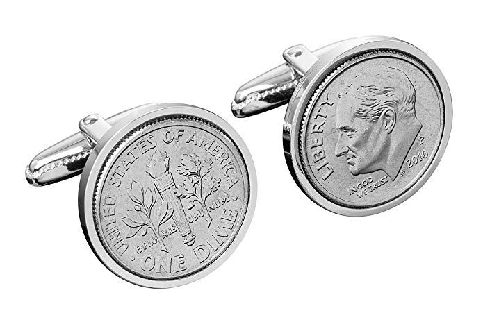 14th Wedding Anniversary Cufflinks for Men- 2004 Cufflinks- US Mint Coins